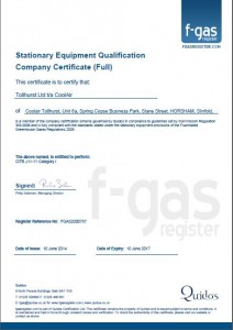 fgas certificate